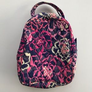 Vera Bradley Purple and Pink Floral Lunch Box